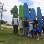 Australian surfclinics at Rainbow Bay with Nancy Emerson