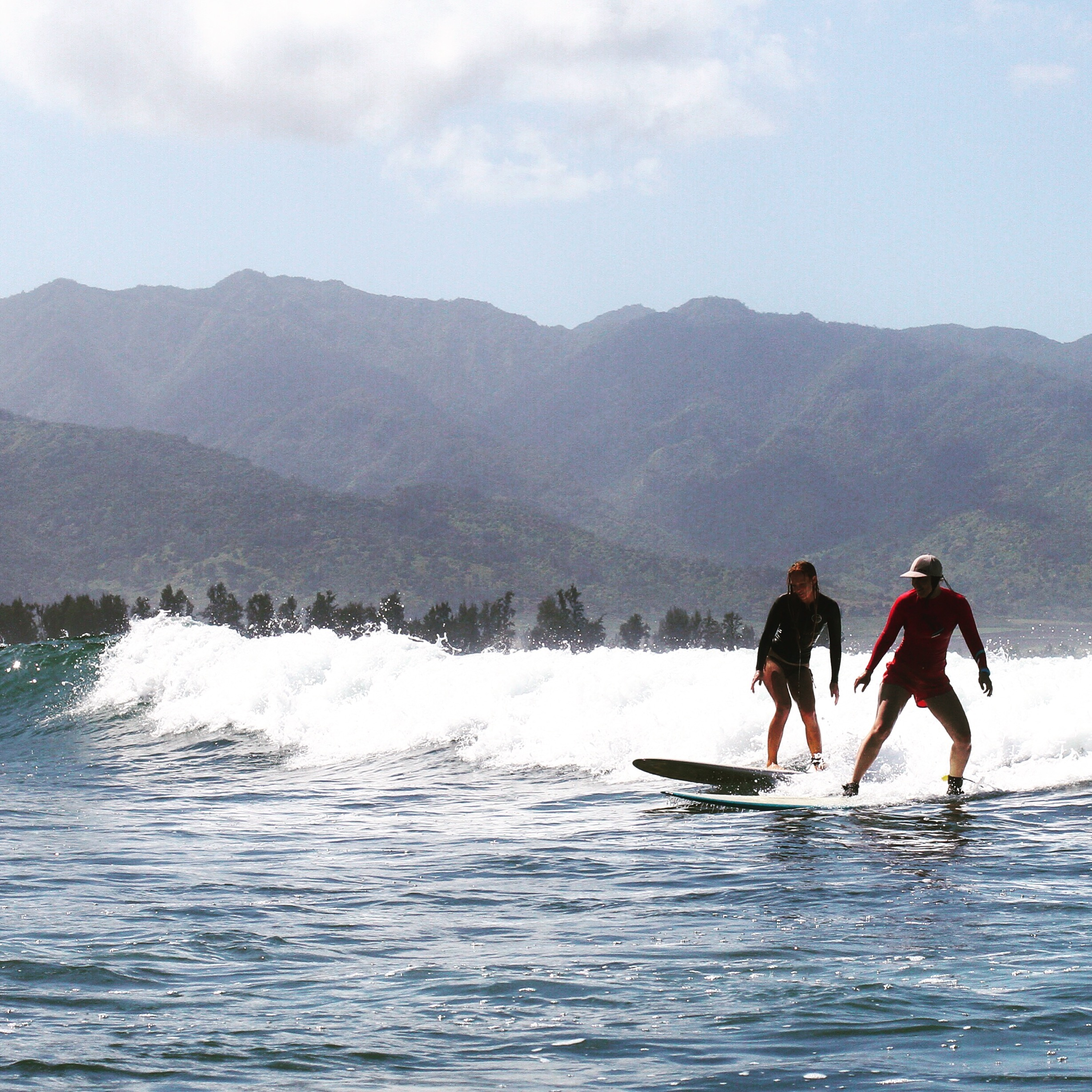 Cowgirls and Cowboys Learning to Surf in Hawaii